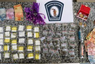 Drogas apreendidas pela Guarda Municipal de Mogi
