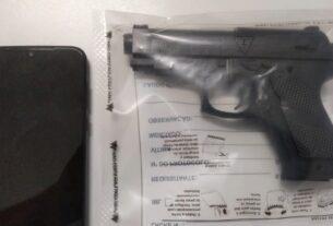 Arma apreendida pela PM em Itaquaquecetuba