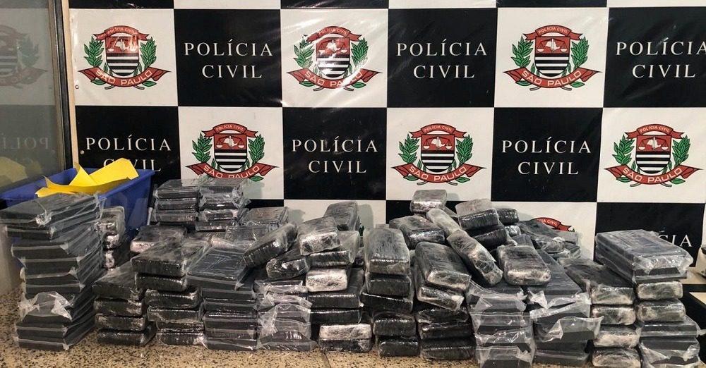 Cocaína apreendida pela Polícia Civil em Suzano