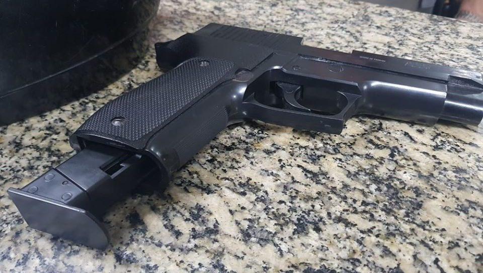 Arma apreendida pela PM em Suzano