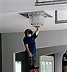 Light Fixture Install in Dallas, Tx   Pool House