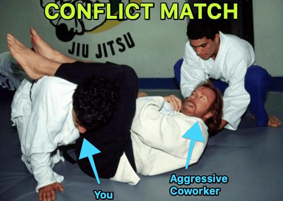 aggressive coworker