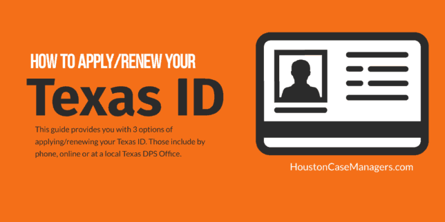 how to apply/renew your texas ID