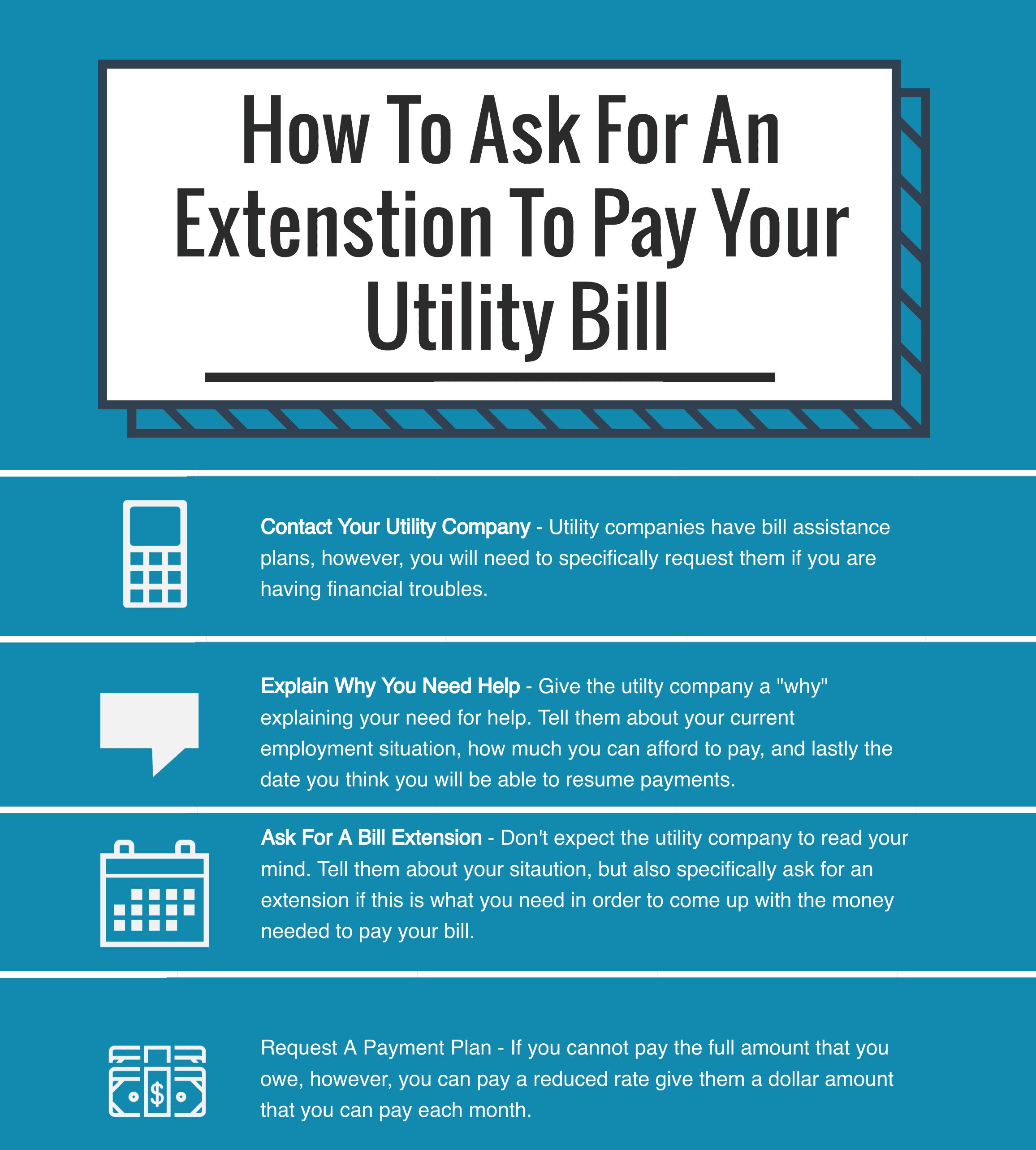 utility bill extension