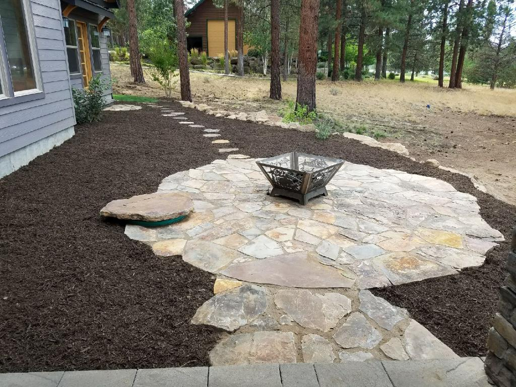 Flagstone pit area completed