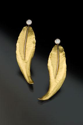 Feather Diamond Earrings