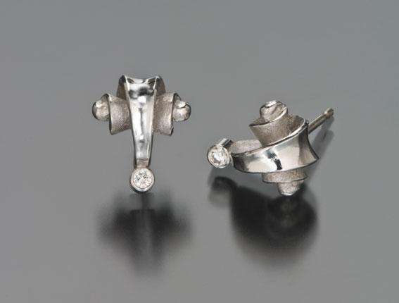 Volute Stud Earrings