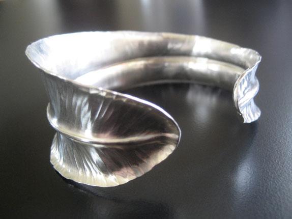 Feather Wrap Cuff Bracelet