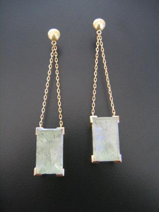 Custom Aqua Drop Earrings