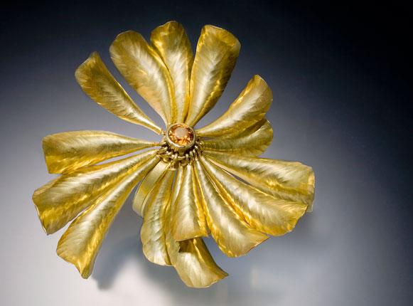 Golden Chrysanthemum Ring