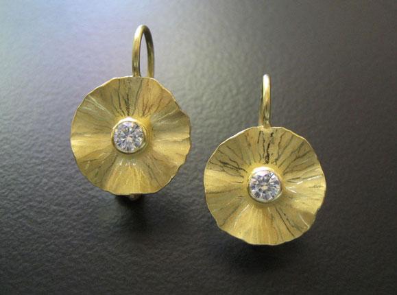 Radiant Drops Gold Earrings