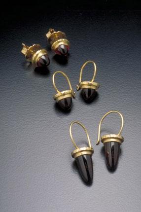 Bullet Cabochon Earrings
