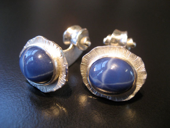 Star Sapphire Volute Cufflinks