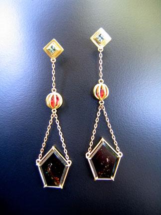 Liddicoatite Earrings