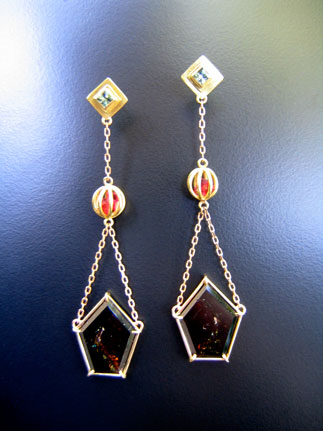 Liddicoatite Earrings