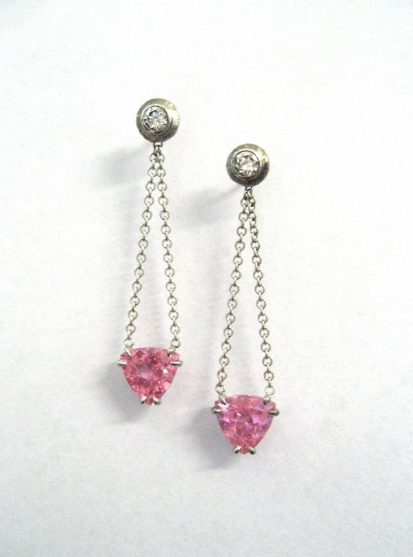 Pink Drop Earrings
