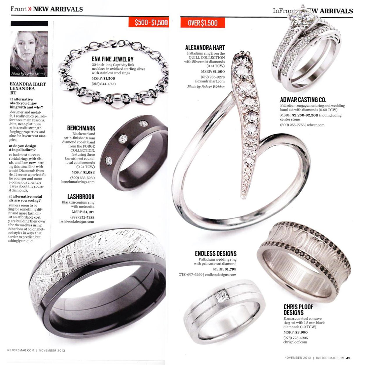 INSTORE magazine jewelry press page