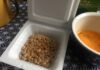 Natto with a raw egg. A traditional Japanese breakfast.