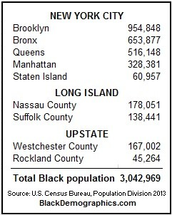 2013 NYC Black population by county