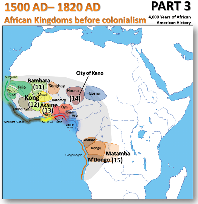 Map Of America 1820.4 000 Years Of African American History In One Post