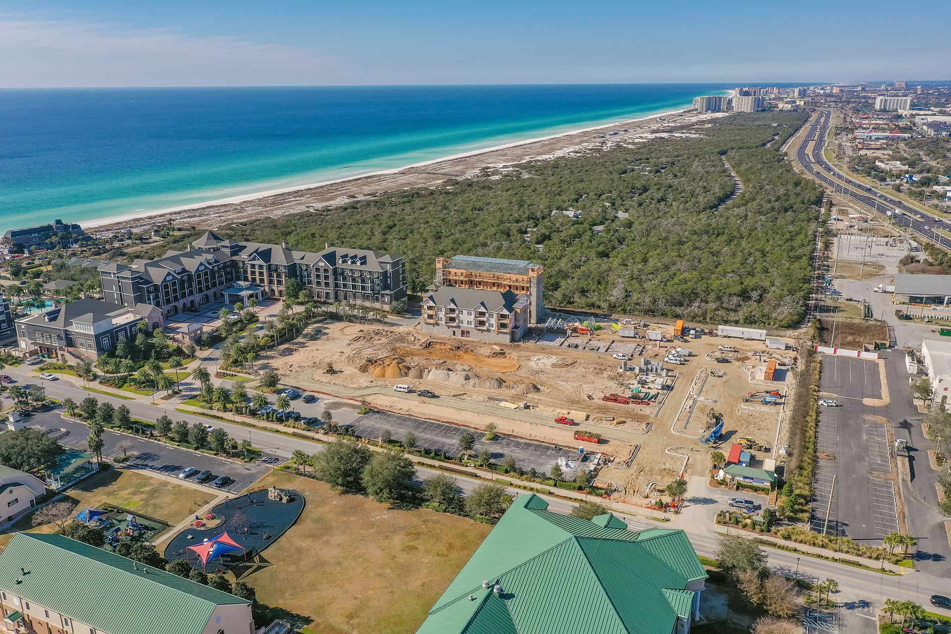 Parkside_at_Henderson_Beach_Resort_January_2021 drone photo looking southwest