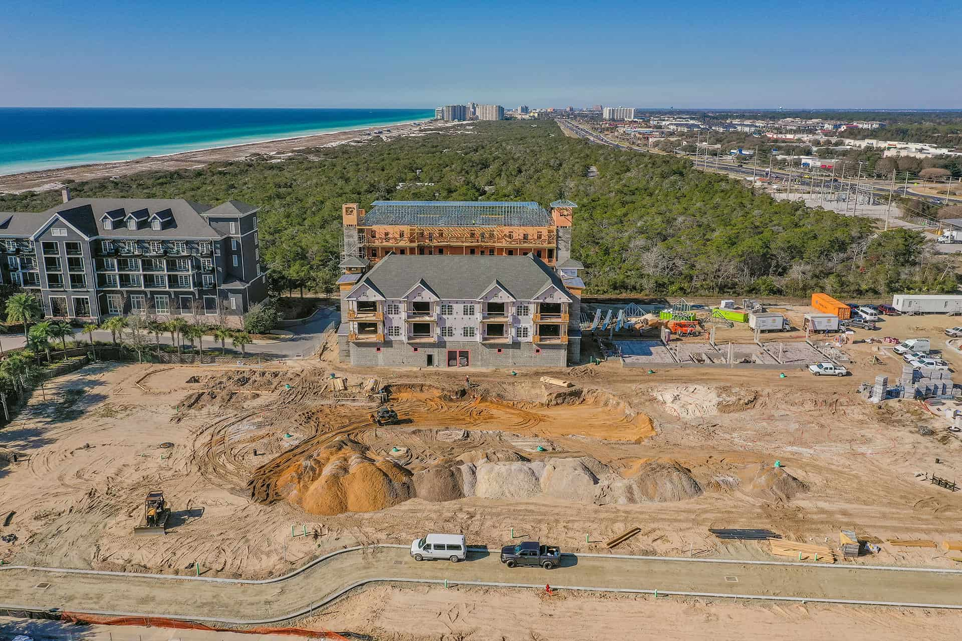 Parkside_at_Henderson_Beach_Resort_January_2021 drone photo looking west