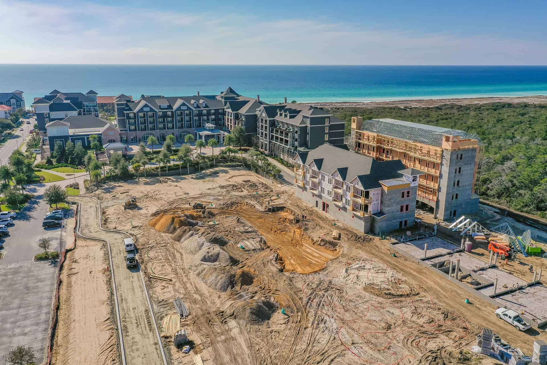 Parkside_at_Henderson_Beach_Resort_January_2021 drone photo looking south