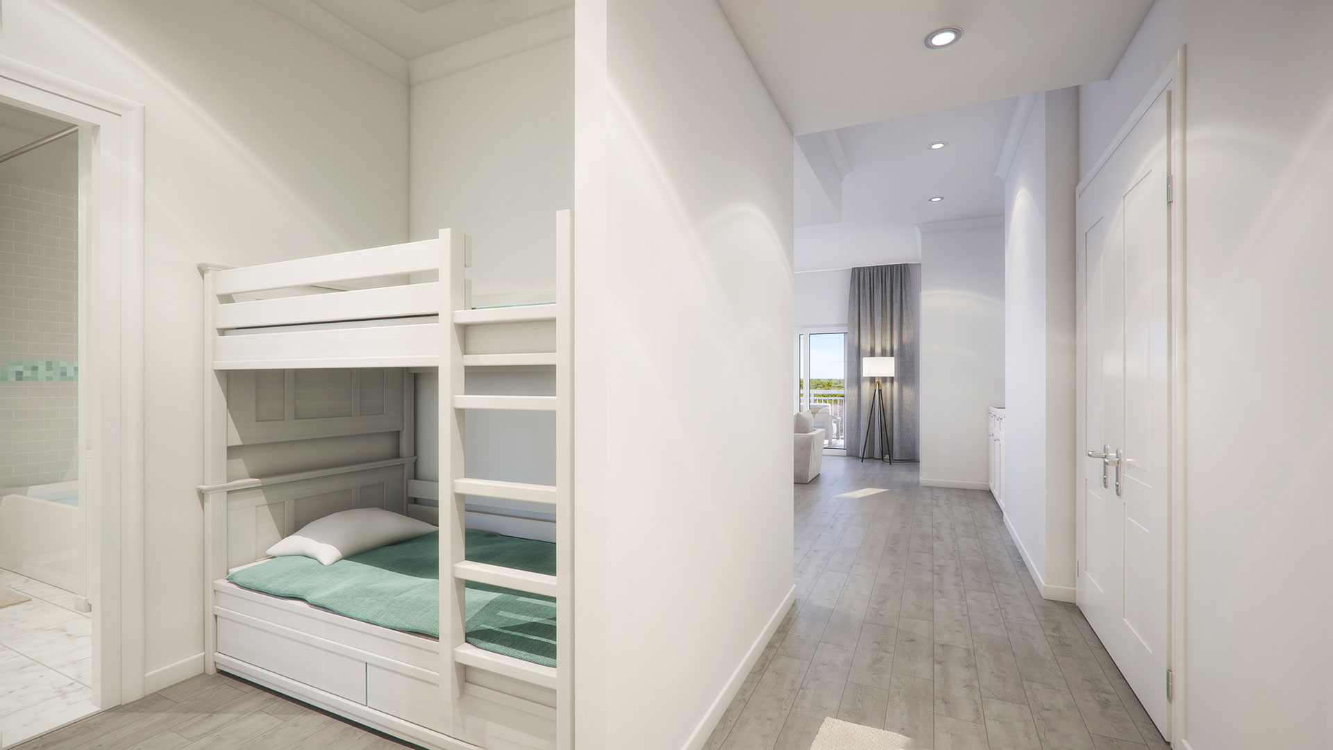 Parkview3 offers 3 bedrooms plus 2 bunks