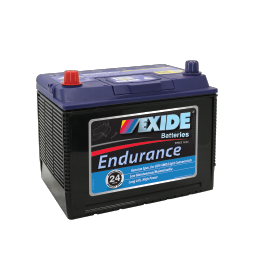 Black case, blue top, N50ZZ Exide Endurance SUV/4WD car battery
