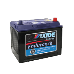 Black case, blue top, N50ZZL Exide Endurance SUV/4WD vehicle battery