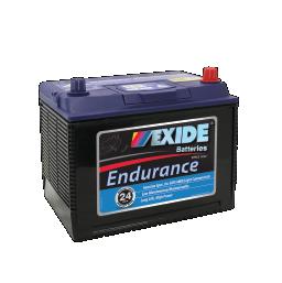 Black case, blue top, N50ZZL Exide Endurance SUV/4WD vehicle battery