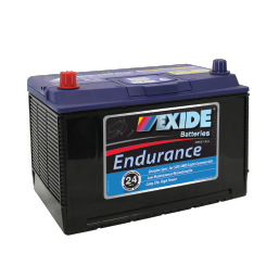 Black case, blue top, N70ZZ Exide Endurance SUV/4WD vehicle battery