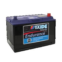 Black case, blue top, N70ZZL Exide Endurance SUV/4WD car battery