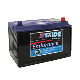 Black case, blue top, N70ZZL Exide Endurance SUV/4WD car battery