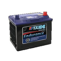 Black case, blue top, 52CMF Exide Endurance passenger vehicle battery