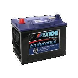 Black case, blue top, 52DMF Exide Endurance passenger car battery