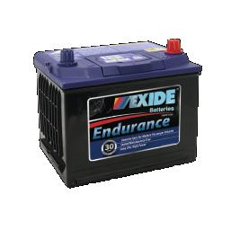 Black case, blue top, 54CMF Exide Endurance passenger vehicle battery