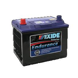 Black case, blue top, 54DMF Exide Endurance passenger car battery