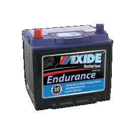 Black case, blue top, 55D23DMF Exide Endurance passenger car battery