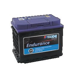 Black case, blue top, DIN55HMF Exide Endurance passenger car battery