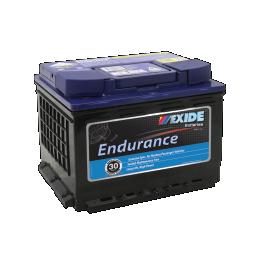 Black case, blue top, DIN55MF Exide Endurance passenger car battery