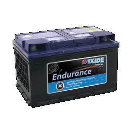 Black case, blue top, DIN66MF Exide Endurance passenger car battery