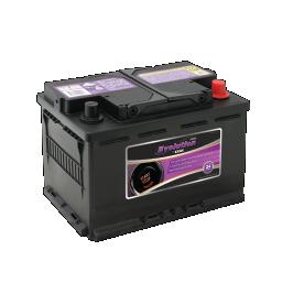 Black SSAGM 66EU Exide Evolution stop/start car battery with purple labels