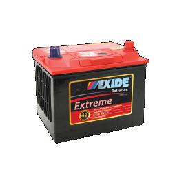 Black case, red top, X56CMF Exide Extreme passenger car battery