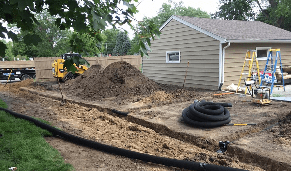 drainage solutions with drain tile pipe