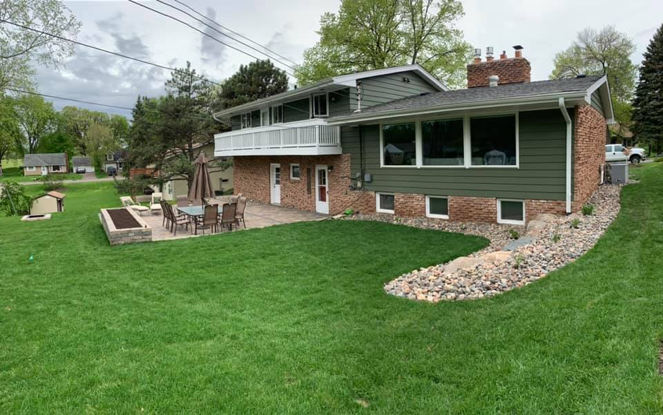 new sod installed at minnesota home