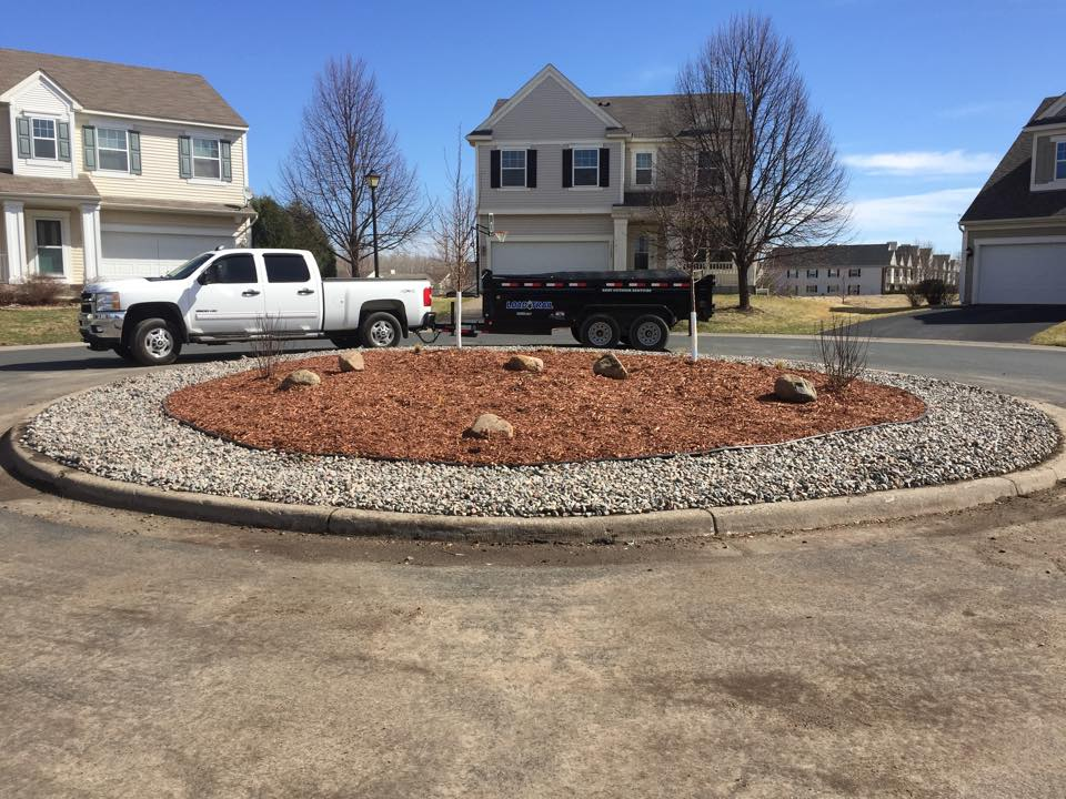completed commercial landscaping project