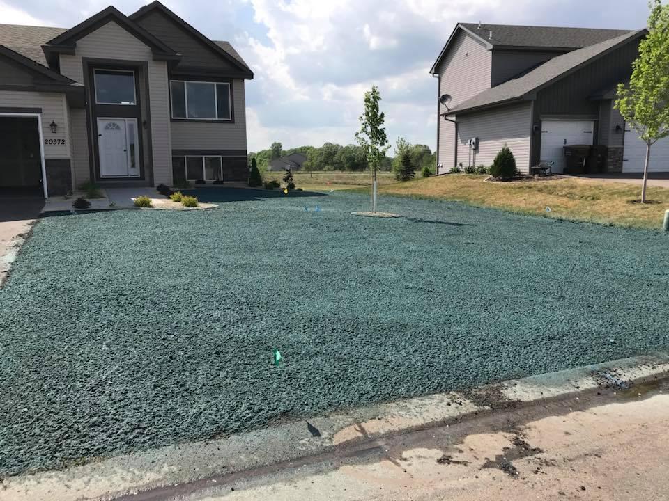hydroseeding residential lawn