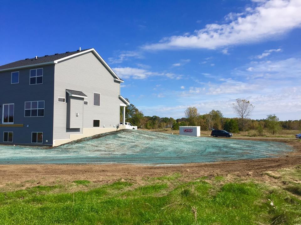 backyard hydroseeding project