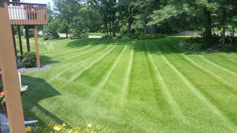 mowing a back yard townhouse hoa